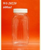600ml PET Jar  (Rectangle)