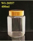 400ml PET Jar  (Hexagon)