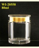 80ml Acrylic Jar  (round)