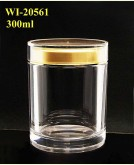 300ml Acrylic Jar  (round)