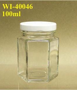 100ml Glass Food Jar - Hexagon