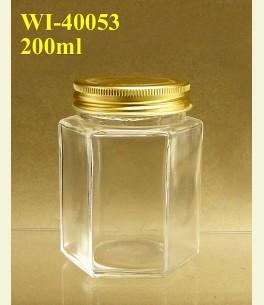200ml Glass Food Jar - Hexagon