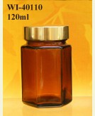 120ml Glass Food Jar - Hexagon