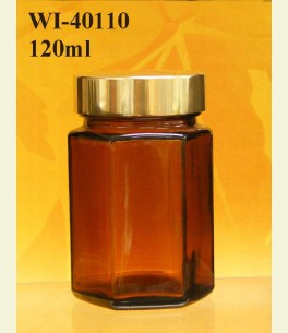 120ml Glass Food Jar - Hexagon